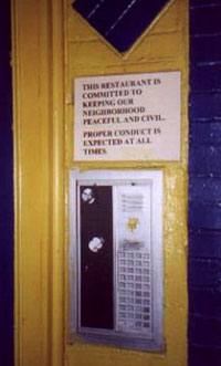 door to East Village restaraunt